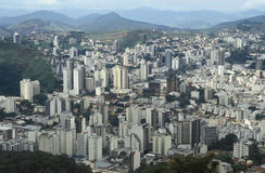 View of the city of Juiz de Fora, Minas Gerais, Brazil. Royalty Free Stock Photography