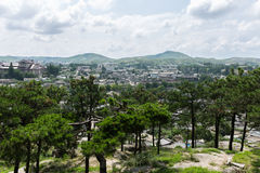 View of the city of Kaesong, North Korea Stock Photography