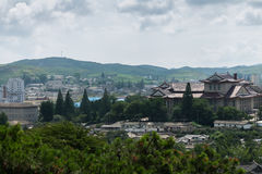 View of the city of Kaesong, North Korea. Royalty Free Stock Photography
