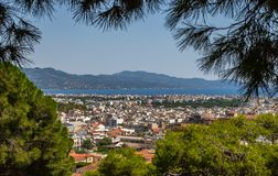 View of the City Kalamata, Peloponnese, Greece Royalty Free Stock Photography