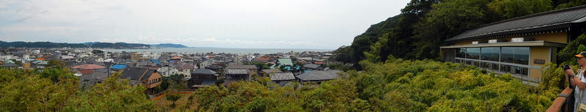 View of the city, Kamakura, Japan Royalty Free Stock Photography