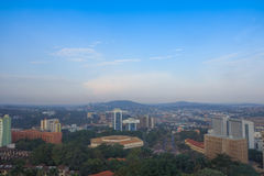 View of the city of Kampala Royalty Free Stock Images