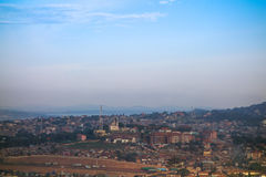 View of the city of Kampala Stock Image