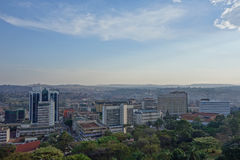 View of the city of Kampala. KAMPALA, UGANDA - CIRCA SEPTEMBER 2016: View of the city of Kampala Stock Images