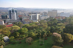 View of the city of Kampala Royalty Free Stock Photos