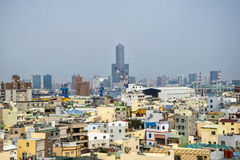 View of the city of Kaohsiung. stock images