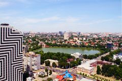 View of the city of Krasnodar stock image