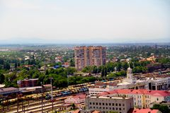 view of the city of Krasnodar stock photography