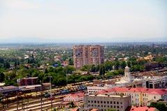 view of the city of Krasnodar stock photography