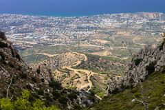 View of the city of Kyrenia, North Cyprus Stock Photos