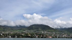 View of the city of Lake Geneva Royalty Free Stock Photo