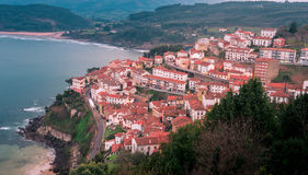 View of the city of Lastres, Asturias.Spain Royalty Free Stock Photo