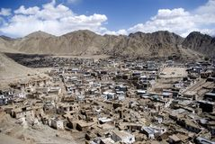 View of the city from, Leh, Ladakh, Ind Stock Images