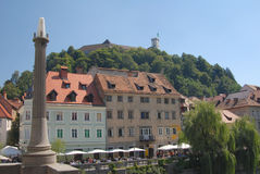View on a city ljubljana Royalty Free Stock Photos