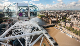 View at the city from London Eye capsule Stock Photo