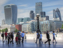 A view of the City of London. Modern office buildings in capital city Stock Images