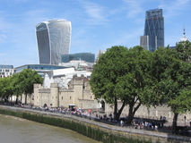 A view of The City of London. View from Tower Bridge Royalty Free Stock Images