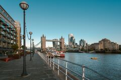 View of the City of London and Tower Bridge From the Pier