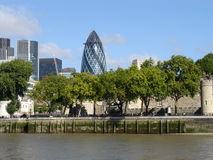 View of the city of London. Stock Images