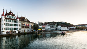 View of the city of Lucerne in Switzerland Royalty Free Stock Photo