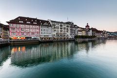 View of the city of Lucerne in Switzerland Stock Photo