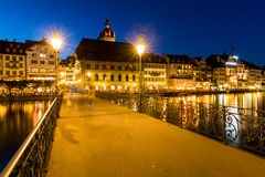 View of the city of Lucerne in Switzerland Stock Image
