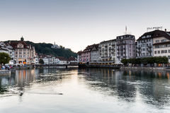 View of the city of Lucerne in Switzerland Stock Images