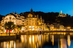 View of the city of Lucerne in Switzerland Royalty Free Stock Photography