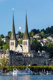 View of the city of Lucerne in Switzerland Royalty Free Stock Image