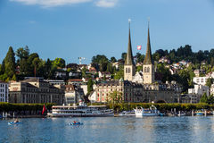 View of the city of Lucerne in Switzerland Stock Photos