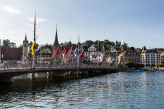 View of the city of Lucerne in Switzerland Stock Photography