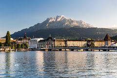View of the city of Lucerne in Switzerland Royalty Free Stock Photos