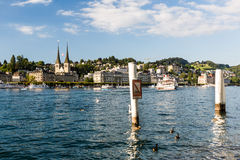 View of the city of Lucerne in Switzerland Royalty Free Stock Images