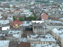 View of the city of Lviv Stock Photography