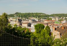 View of the city Lviv from a height. View of the city Lvov from a height Royalty Free Stock Images
