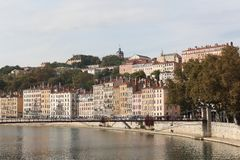 View of the city of Lyon, France Stock Images