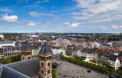 View on city Maastricht royalty free stock photography