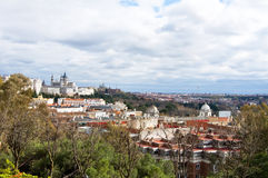 View of the city of Madrid Royalty Free Stock Photo