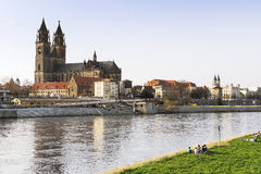 View of the city of Magdeburg Stock Photography
