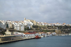 View of the city of Mahon Stock Images