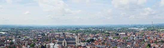 View of the city of Malines Royalty Free Stock Photography