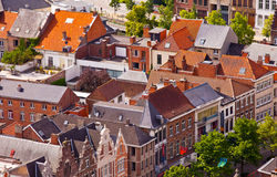 View of the city of Malines (Mechelen). From height of bird's flight, Belgium Stock Photos