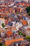 View of the city of Malines (Mechelen). From height of bird's flight, Belgium Royalty Free Stock Photos