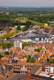 View of the city of Malines (Mechelen). From height of bird's flight, Belgium Stock Image