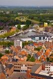 View of the city of Malines (Mechelen). From height of bird's flight, Belgium Stock Photography