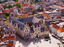 View of the city of Malines (Mechelen). From height of bird's flight, Belgium Stock Images