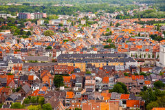 View of the city of Malines (Mechelen). From height of bird's flight, Belgium Royalty Free Stock Images