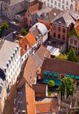View of the city of Malines (Mechelen). From height of bird's flight, Belgium Royalty Free Stock Photo