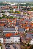 View of the city of Malines (Mechelen). From height of bird's flight, Belgium Royalty Free Stock Image