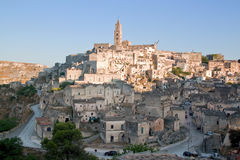 View of the city of Matera and the typical stones Stock Photo